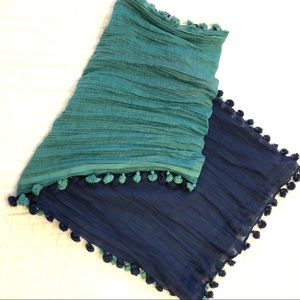Lucky Brand ombré tassel scarf